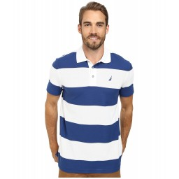 Nautica Short Sleeve Bold Stripe Polo
