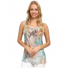 Sleeveless Chiffon Zebra Fresco